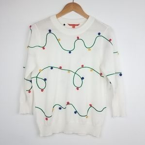Modcloth | White Christmas Lights Sweater